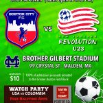 BOSTON CITY FC TO FACE NEW ENGLAND REVOLUTION UNDER 23 IN CHARITY EVENT